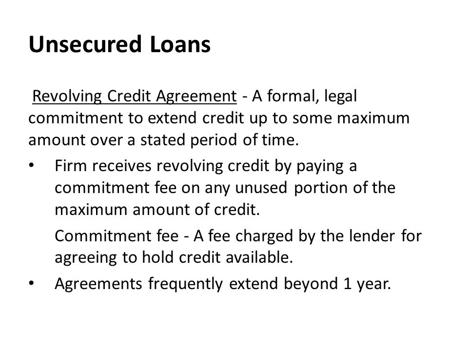 Summary of Previous Lecture - ppt video online download - credit agreement
