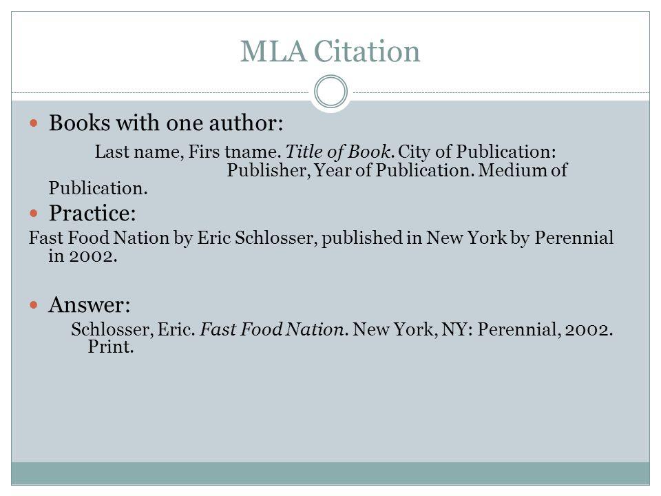 Citation Format For Books