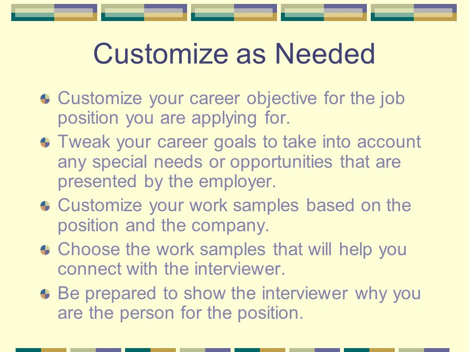 Career Portfolios - ppt video online download - what are your career objectives