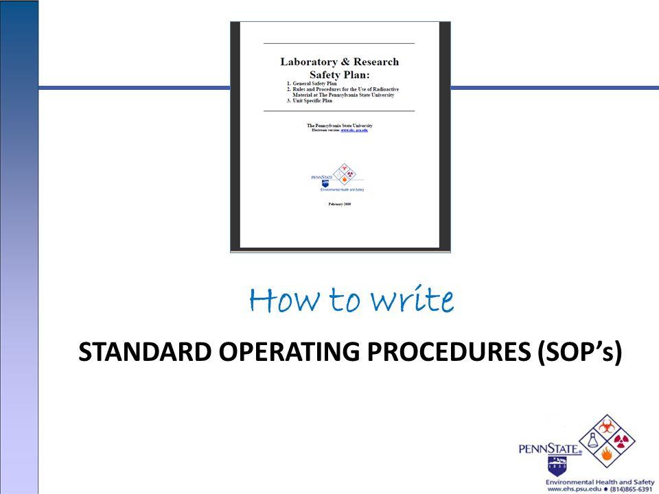 STANDARD OPERATING PROCEDURES (SOP\u0027s) - ppt video online download