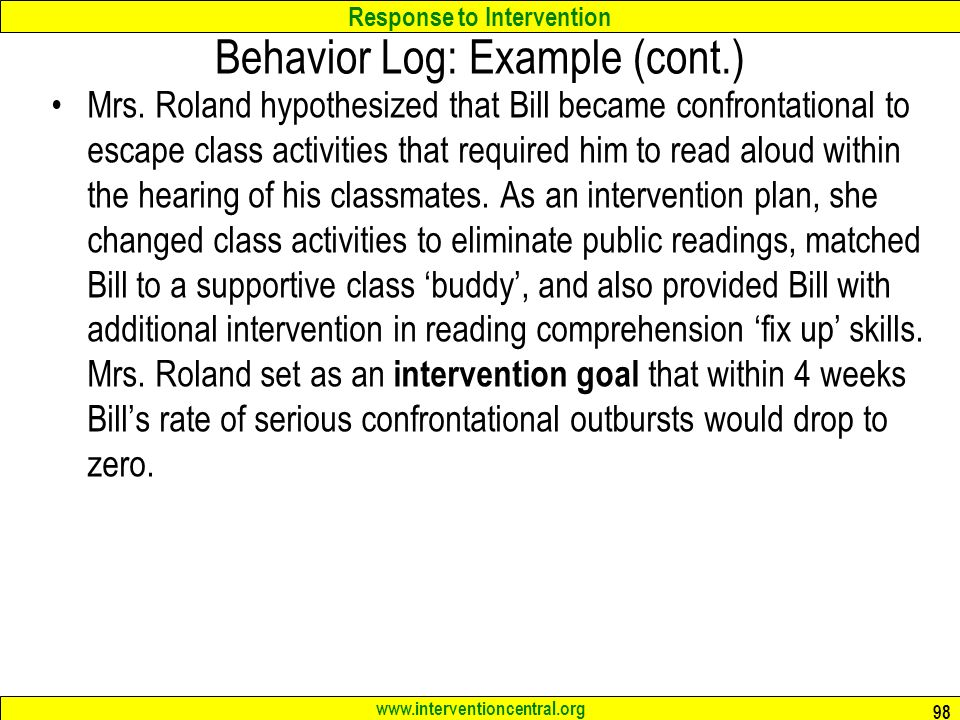 Behavior Log Examples  TemplatexampleUnicloudPl