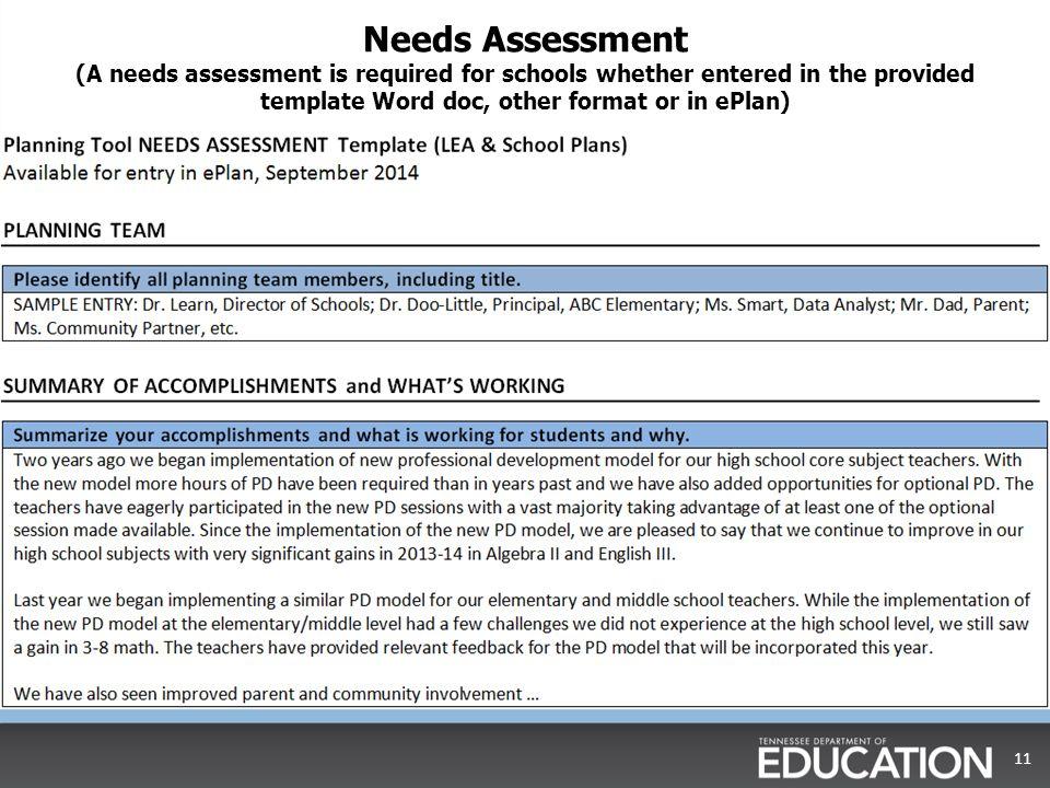 needs assessment template word datariouruguay - needs assessment example