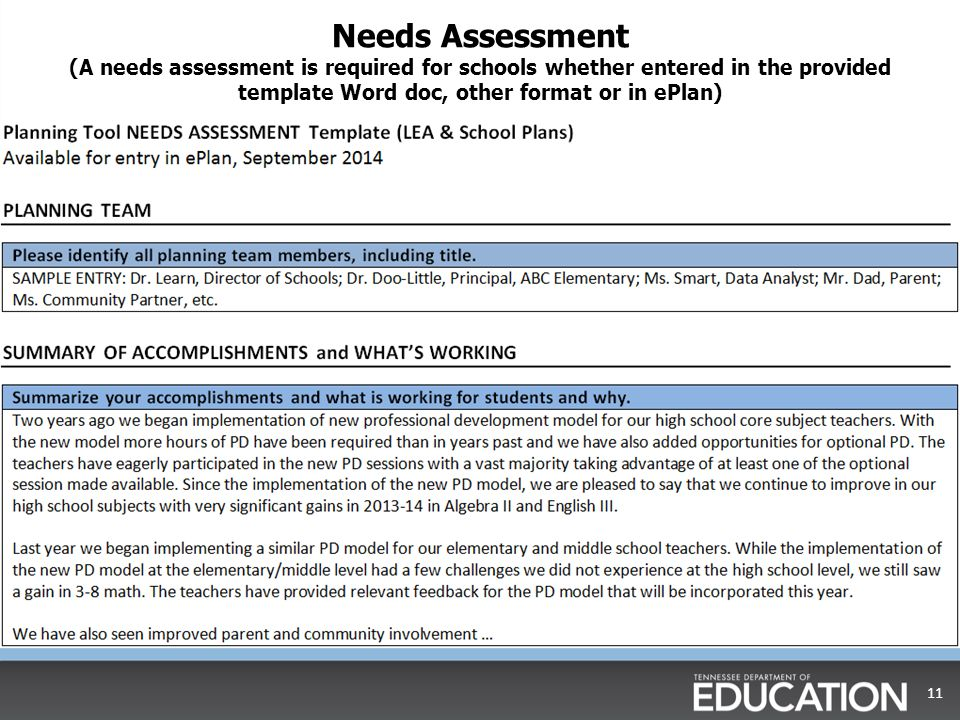 Awesome Needs Assessment Format Component - Best Resume Examples by - needs assessment example