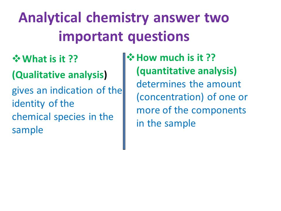 Images of Analytical Chemistry Examples - #rock-cafe