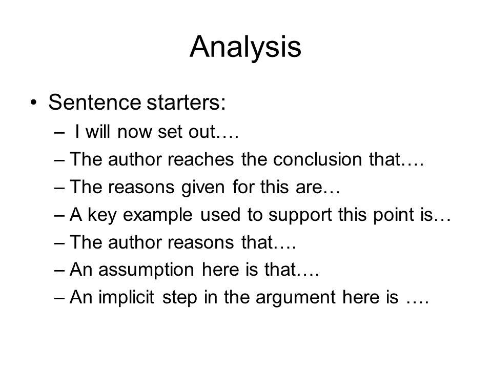 Essay topic sentence starters