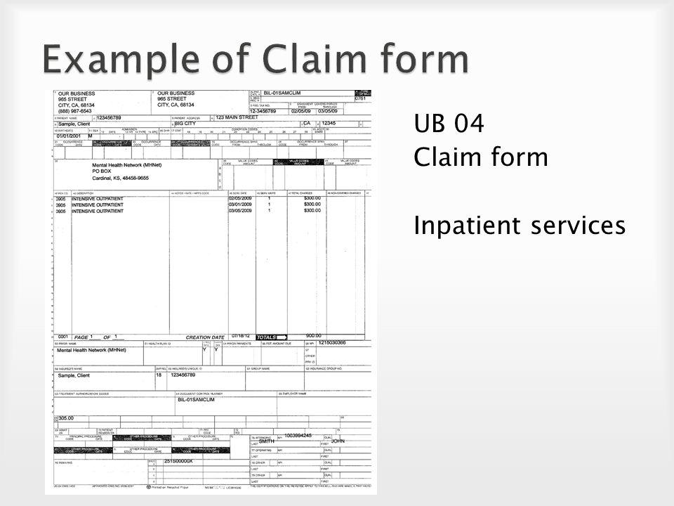Pension Service Claim Form Sample Pension Service Claim Form 11