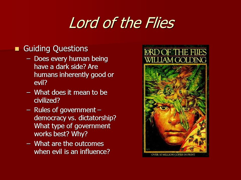 Essay on good vs evil in lord of the flies Coursework Academic