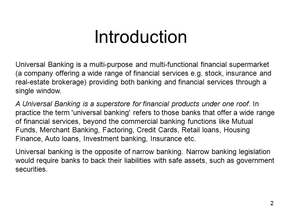 Project Report An Empirical Study on Universal Banking and its - project report
