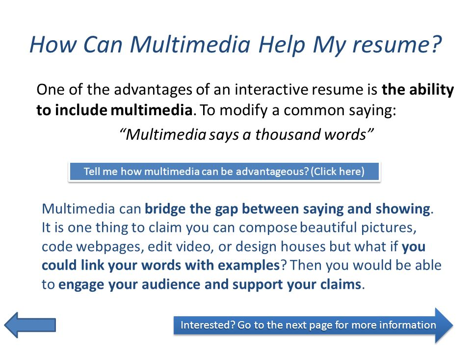 get noticed with an interactive resume ppt download help with my resume - Help With My Resume