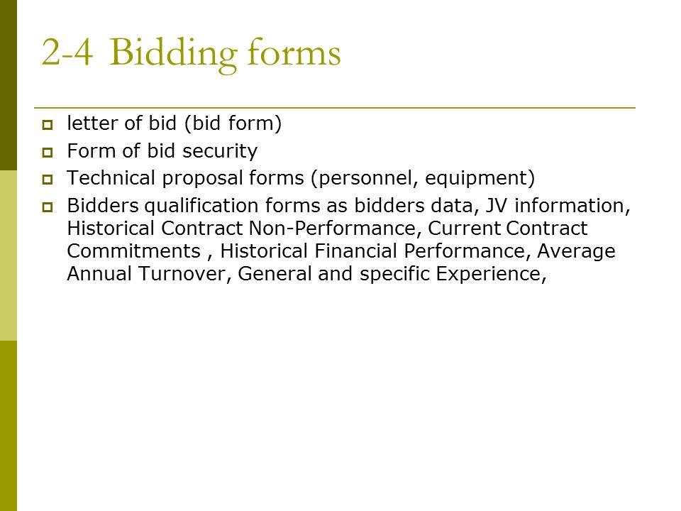 bidding form - Amitdhull - bid proposal forms