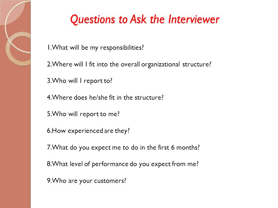 interview questions to ask your interviewer
