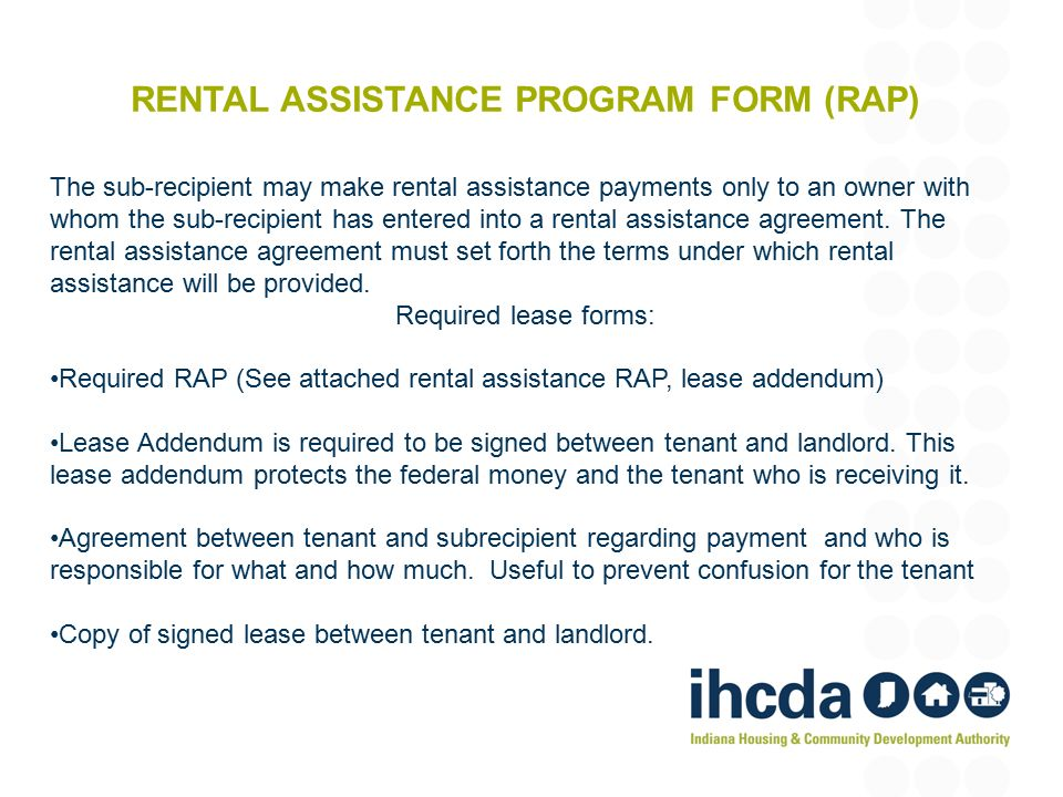Emergency solutions Grant Rapid Re-housing Training - ppt download - rental assistance form