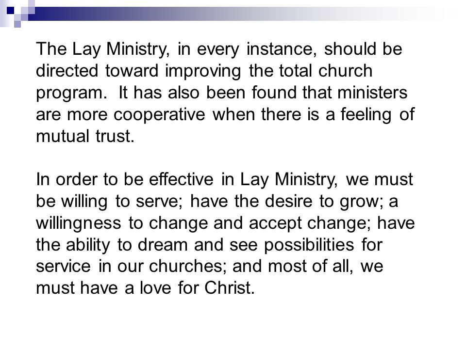 The Role of the Laity in the Local Church - ppt video online download - church program