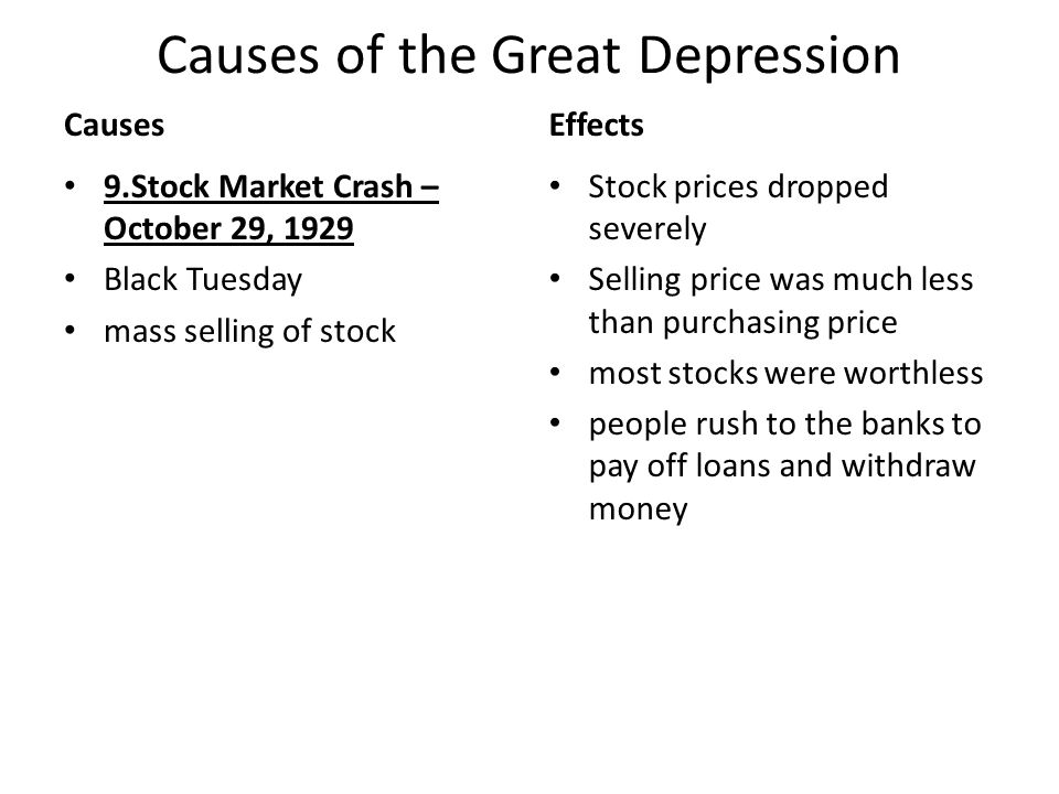Cause and effect of great depression essay Research paper Service - essays about the great depression