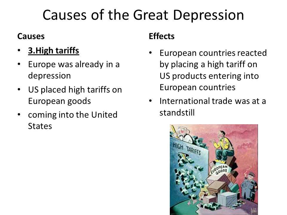 The united stats of americas great depression Term paper Help - the great depression causes and effects