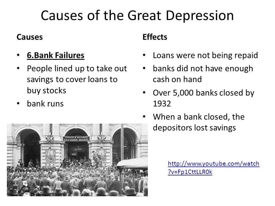 what were the causes of the great depression - Selol-ink