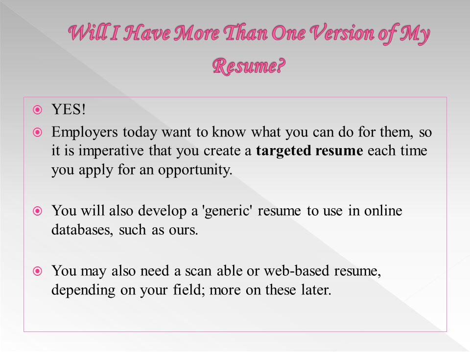 targeted resumes samples