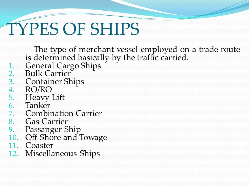 Types Of Ships colbro - types of ships