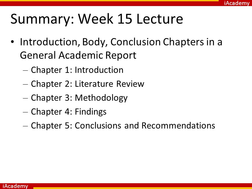 Introduction to Academic Reports - ppt download