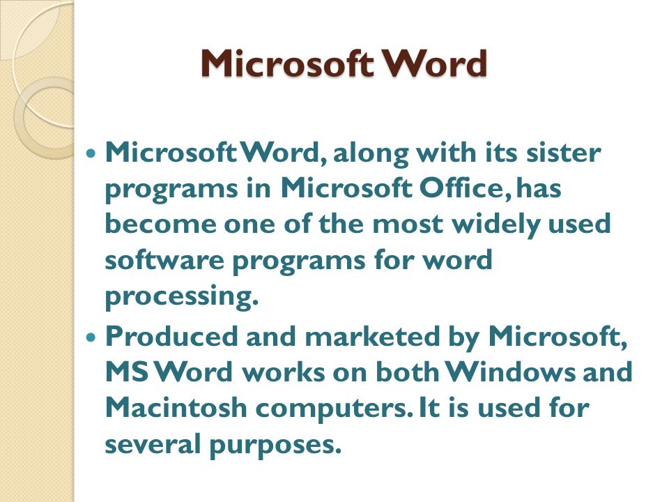 Uses Of Microsoft Word In A Doctor\u0027s Practice - ppt video online - degrees in microsoft word