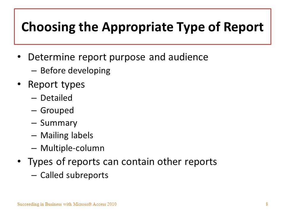 Developing Effective Reports - ppt download