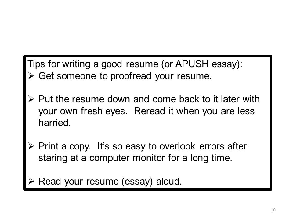 10 Tips For Writing A Good Resume Contegri Tips For Writing A Resume   Tips  For