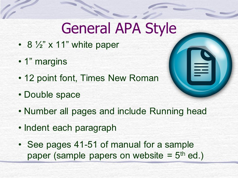 Writing in APA Style 6th Edition - ppt video online download