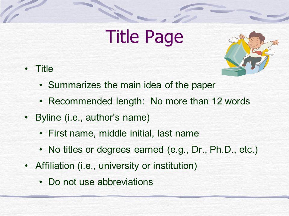 title page apa 6th edition xv-gimnazija