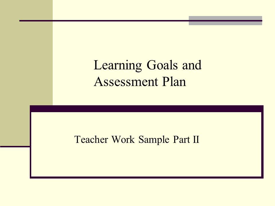 Valdosta State University Early Childhood and Reading Education - sample assessment plan