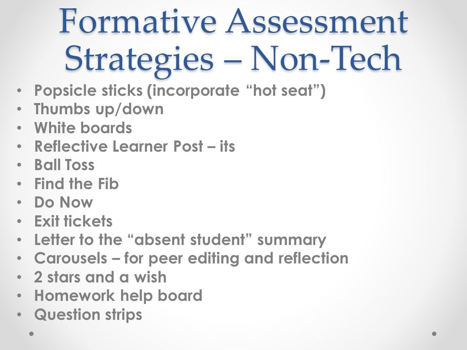 Incorporating Formative Assessment Strategies into lesson planning - formative assessment strategies