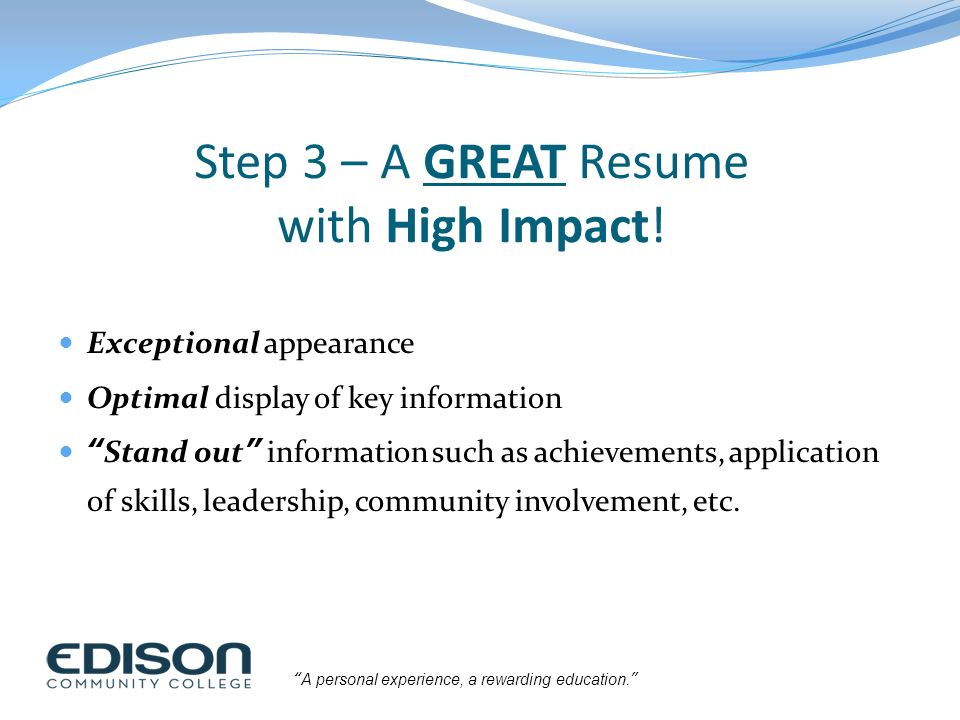 Building a High-Impact Resume - ppt download - high impact resumes