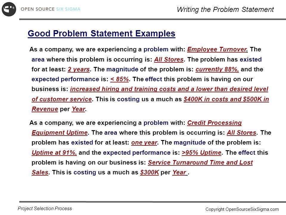 Problem statement example cvfreeo problem statement template flashek Gallery