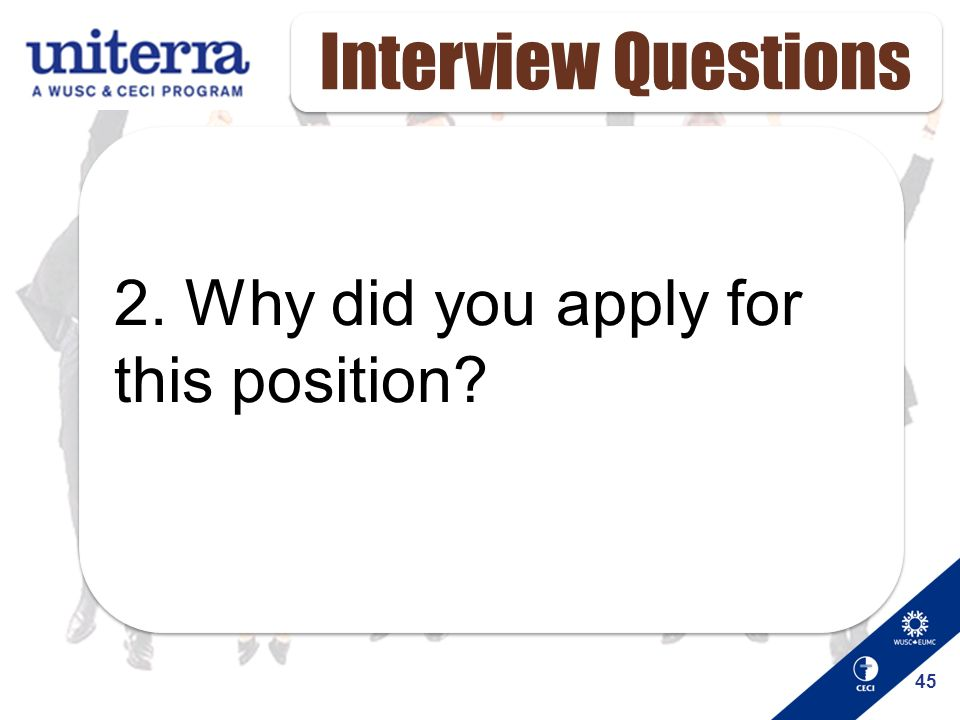 why are you applying for this position answers xv-gimnazija