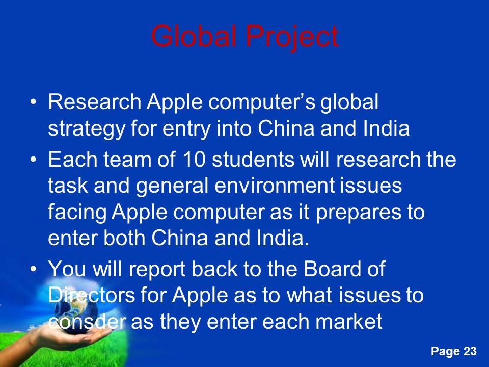 Managing the Global Environment - ppt video online download