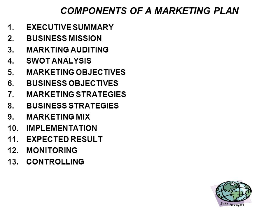MARKETING STRATEGY Learning objectives - ppt video online download - components marketing plan