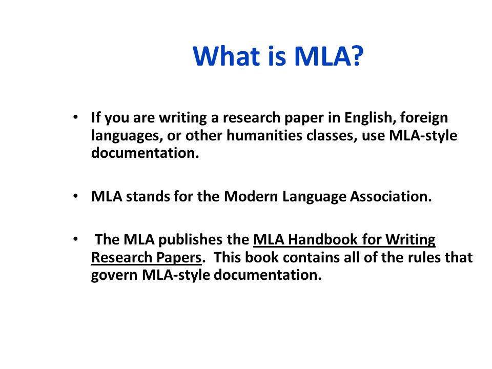 Mla documentation style for research papers Essay Academic Service - mla style papers