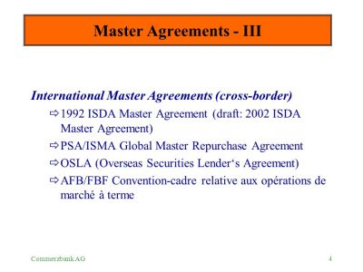 OTC - Master Agreements - ppt download