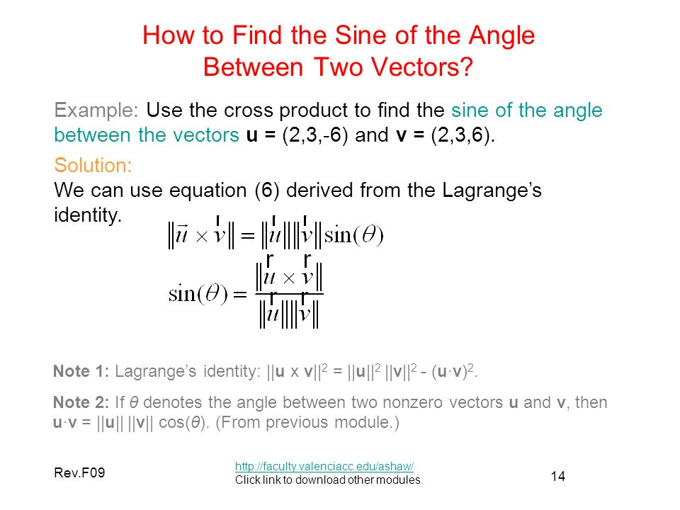 How To Find The Angle Between Two Vectors In Physics - Proga Info