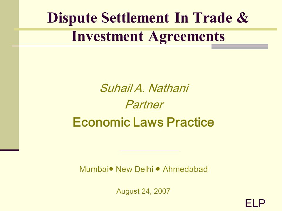 Investment Agreements ScopeTypes Of International Investment