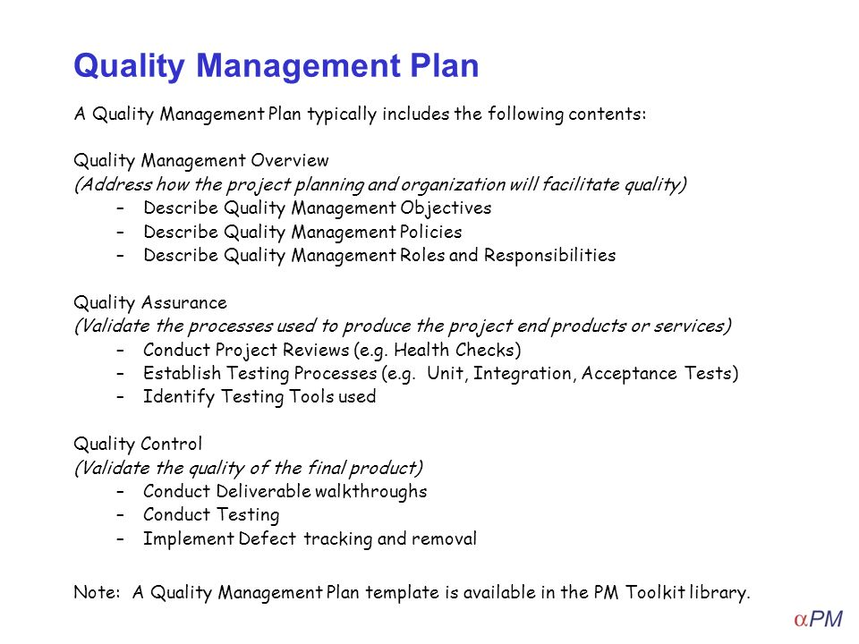 How To Apply Quality Management - ppt video online download