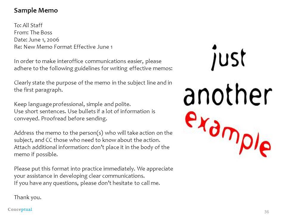 writing a memo to staff - Akbagreenw