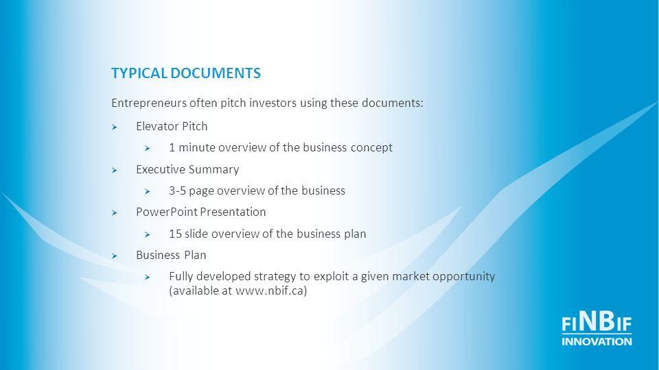 5 Minute Business Plan Presentation