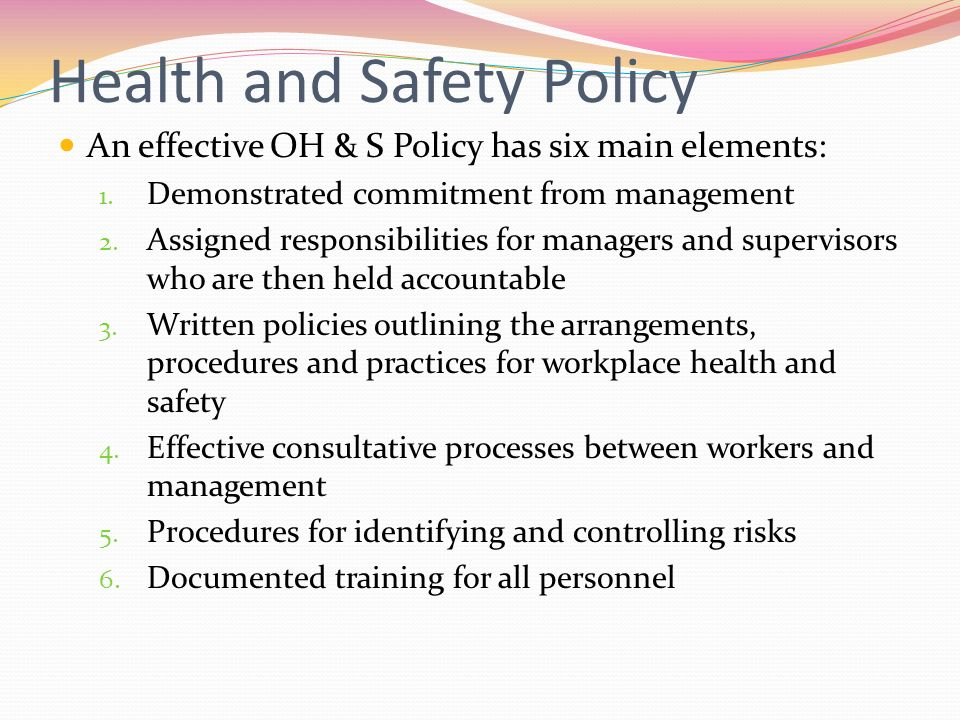Health And Safety Policy Zasady Enjpg, Health And Safety At Work