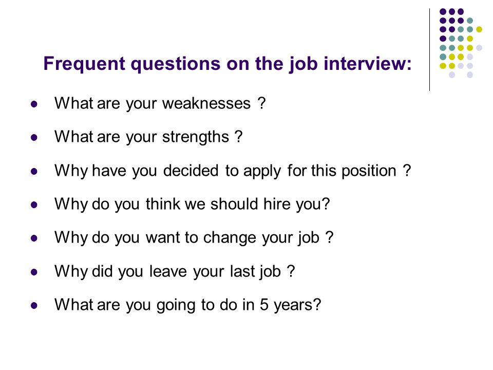Job interview - ppt video online download - why do i want this job