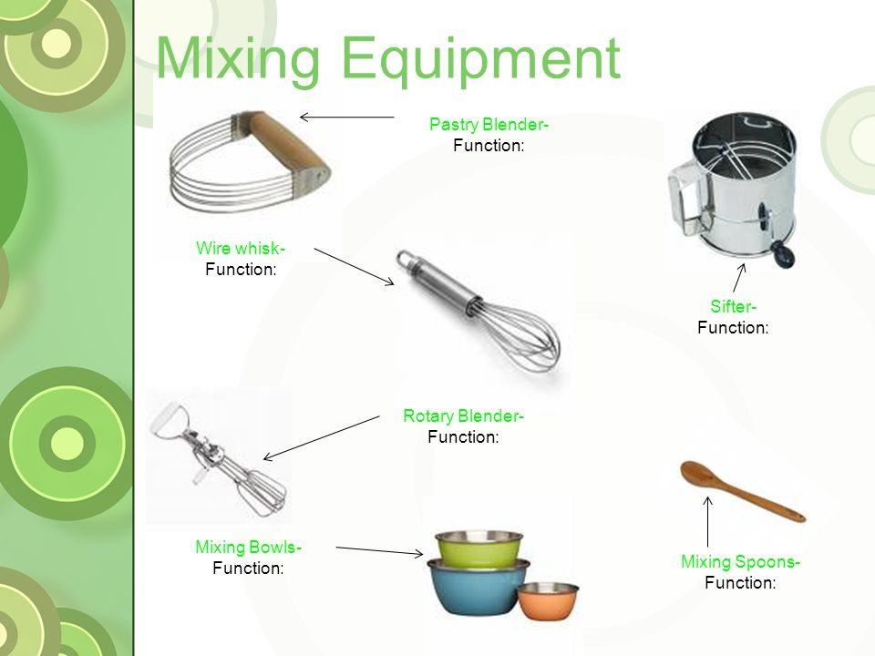 Mixing Tools Kitchen Equipment. - Ppt Video Online Download