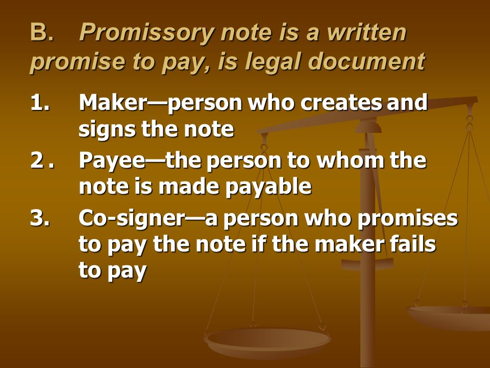 Legal Promise To Pay Document - Fiveoutsiders - legal promise to pay document