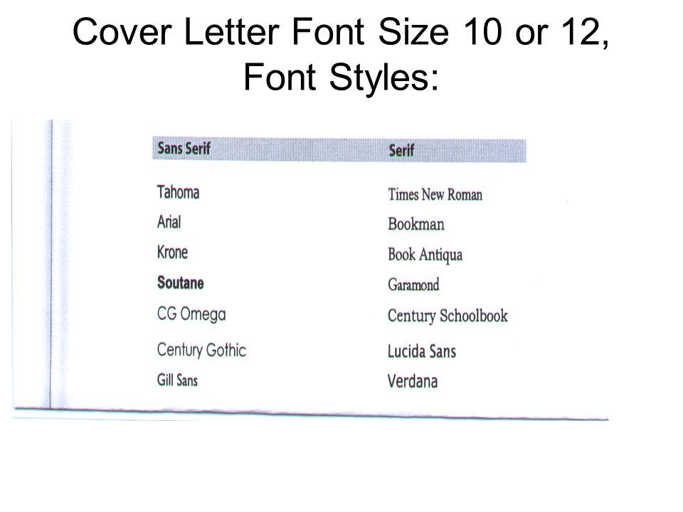 Cover Letter Best Font font size cover letter Goalblocketycoresume