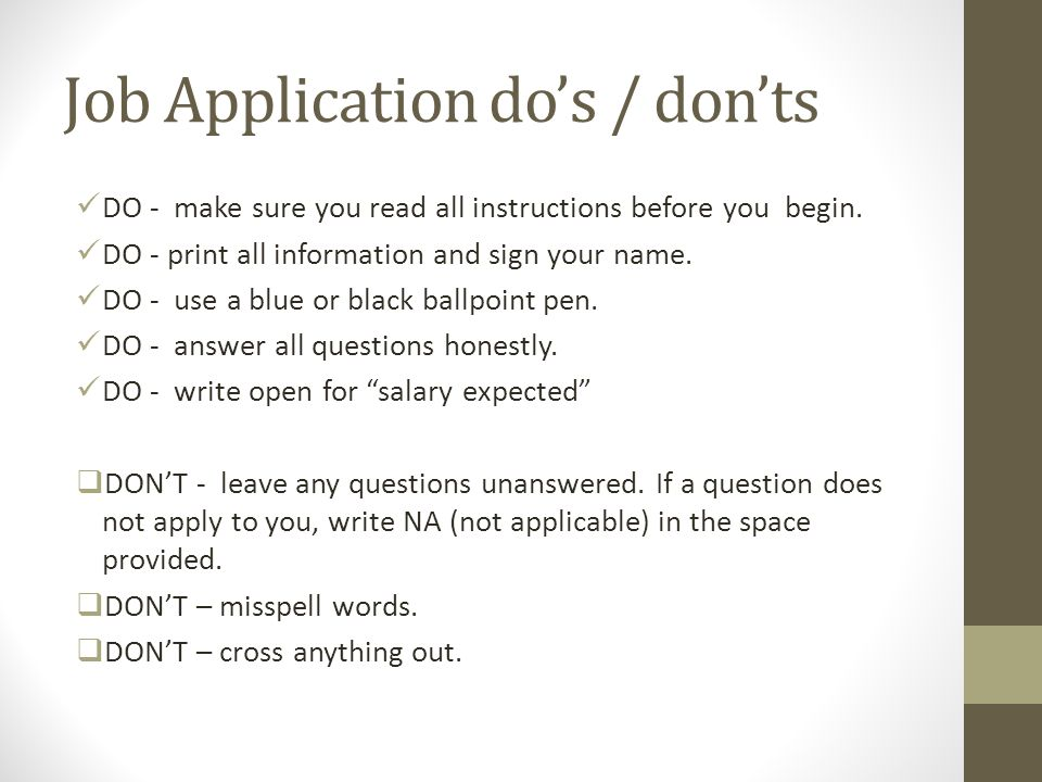 Applying For A Job Resume \u2013 - ppt download - how to do resume for job application