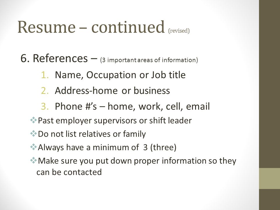 Applying For A Job Resume \u2013 - ppt download - how to do a job resume