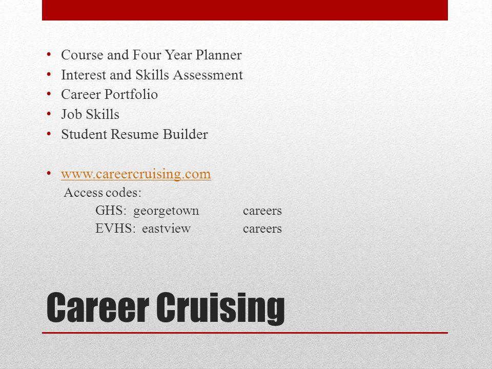 career cruising resume builder digitial resource career cruising - Career Cruising Resume Builder